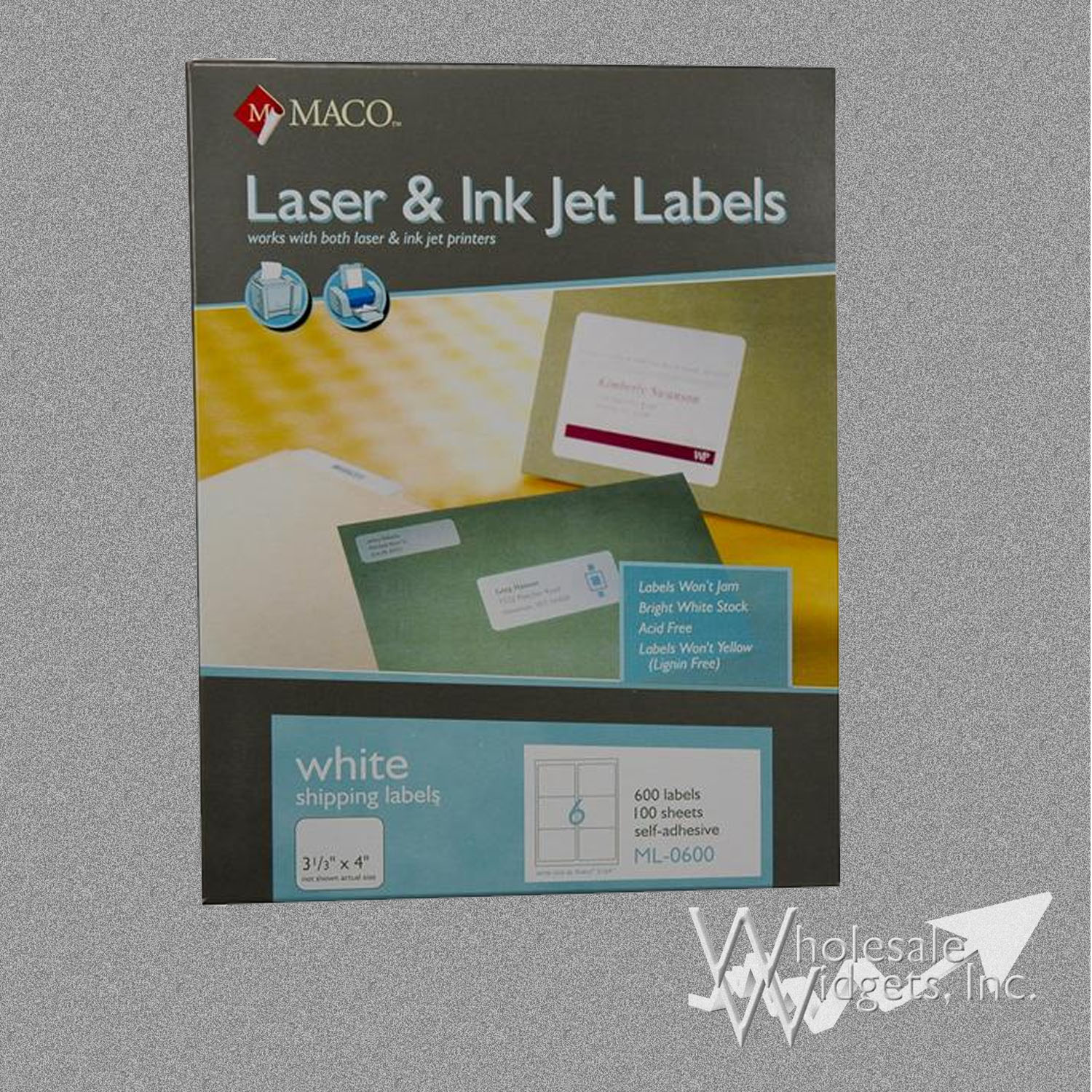 maco ml0600 3 1  3 x 4 labels for use in 3 3 x 4  white