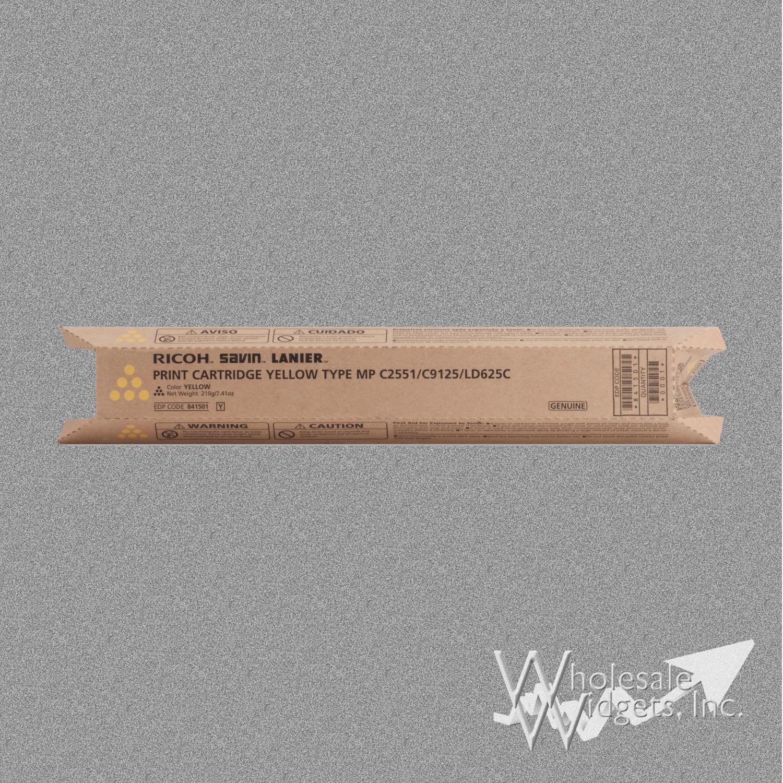 Ricoh Savin Lanier 841501 Yellow Print Cartridge Type MP C2551//C9125//LD625C