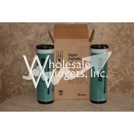 Wholesale Widgets Green Ink Compatible With Riso GR RA RC FR RP Box of 2