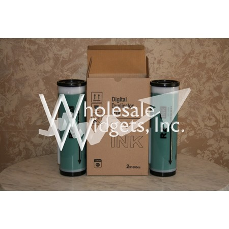 Wholesale Widgets Green Ink Compatible With Riso EZ MZ RZ Box of 2