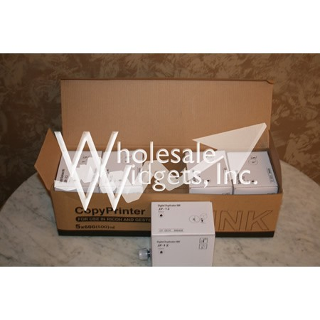 Wholesale Widgets JP30 Black Duplicator Ink Compatible With Ricoh JP-12 / JP-30 Box of 5