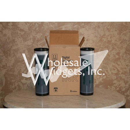 Wholesale Widgets S-4202 Black Duplicator Ink Compatible With Riso S4202 Box of 2