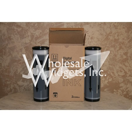 Wholesale Widgets S-4254 Black Duplicator Ink Compatible With Riso S4254 Box of 2