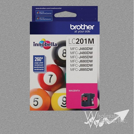 Brother LC201M Magenta Ink