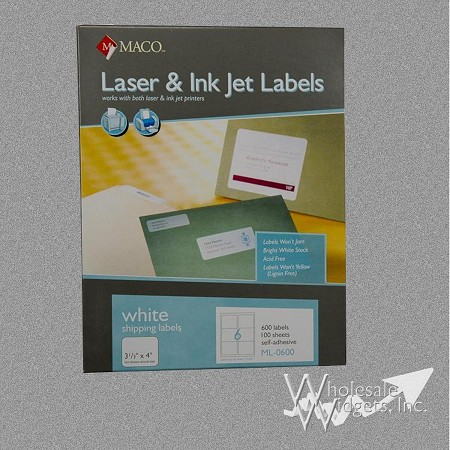 Maco ML0600 3 1/3 x 4 Labels