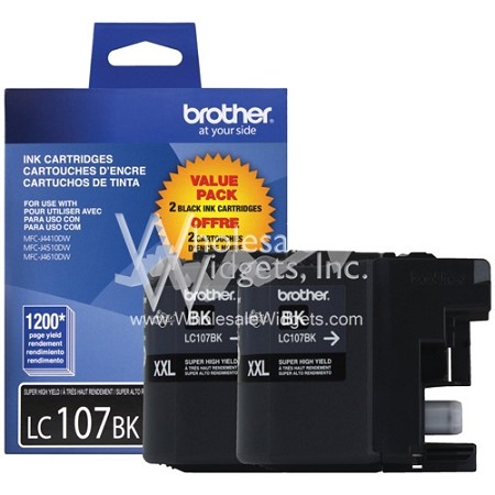 Brother 2Pk Super HY Black LC107