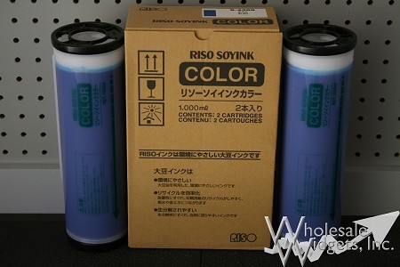 Genuine Riso S-4388 Blue Duplicator Ink Box of 2