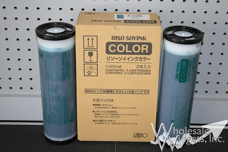 Genuine Riso S-4398 Teal Duplicator Ink Box of 2